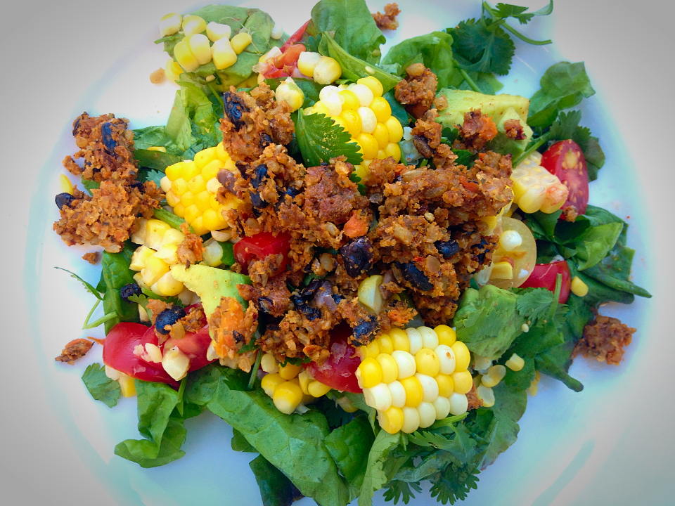 Loco Chipotle Grilled Corn and Tomato Salad