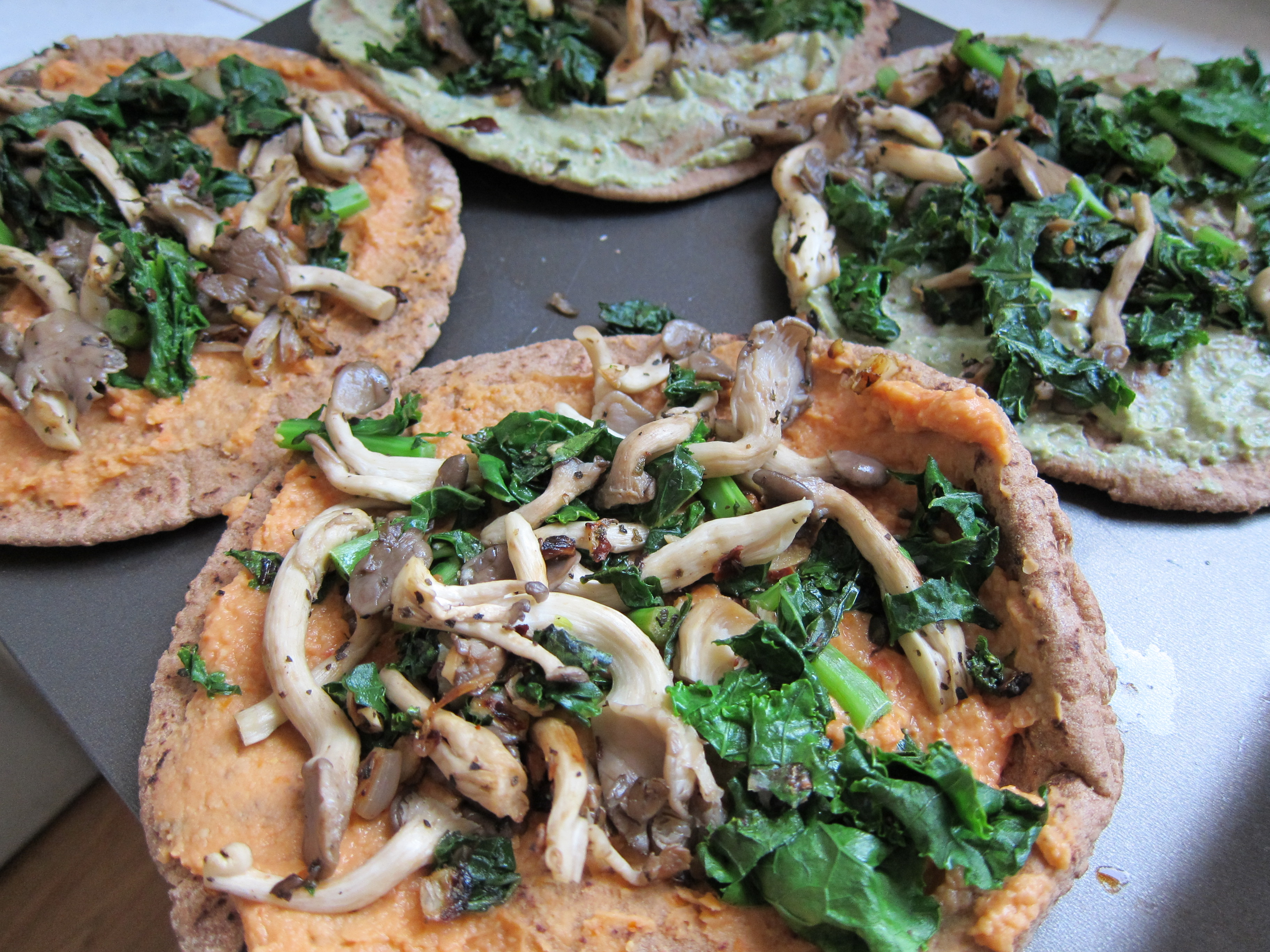 Vegan Pizzas with Kale and Sunshine