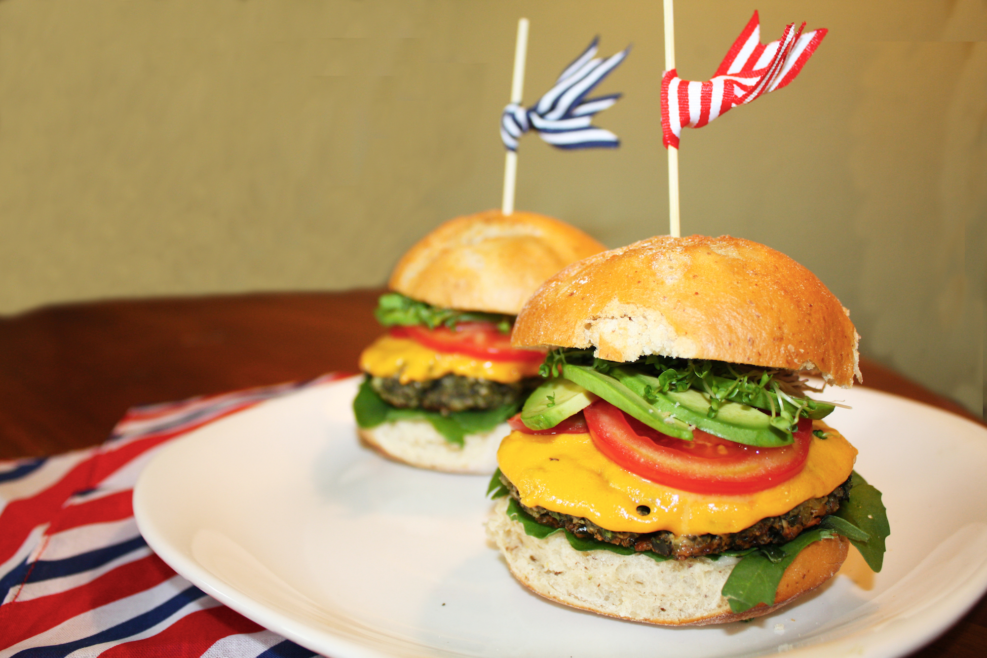 Plant Based and Gluten Free, Memorial Day 'Cheese Burgers'