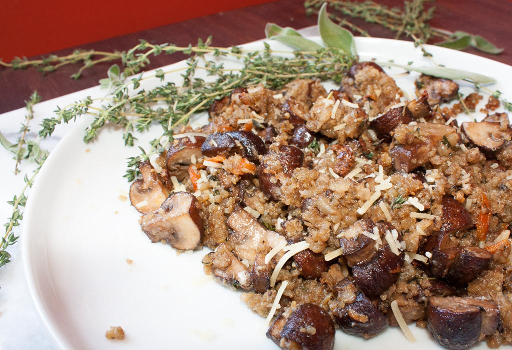 """""""Breaded"""" Oven Roasted Garlic Mushrooms"""